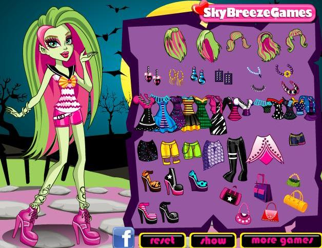 monster high venus McFlytrap's bold style dress up girls game