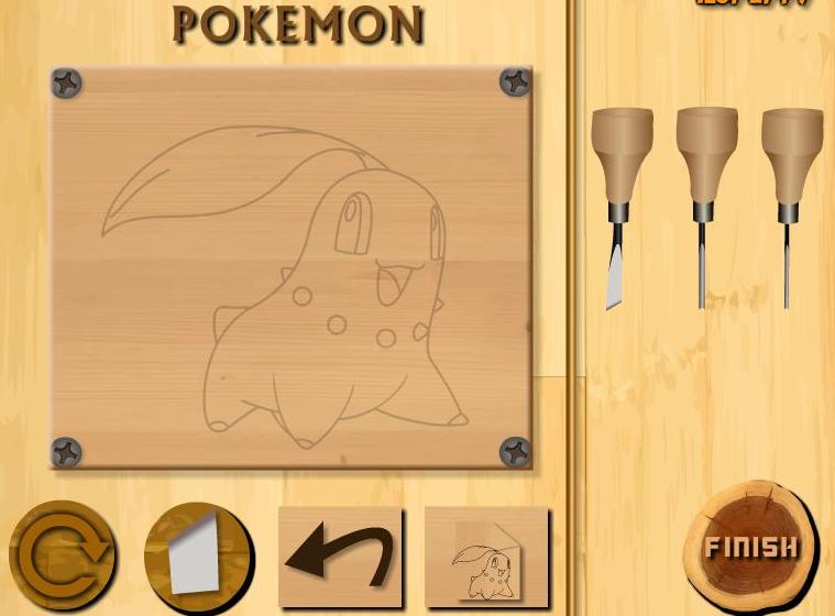 wood carving pokemon game