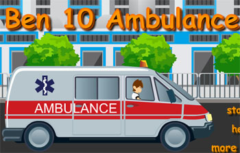 ben 10 ambulance game flash free online