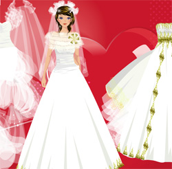 game valentines day wedding dresses free online
