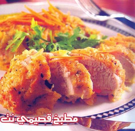 دجاج بالجبن والبطاطس